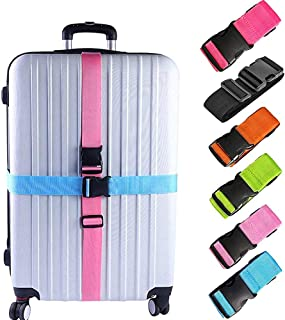 Heavy Duty Suitcase Straps Suitcase Belts With 3-Dial Lock 1 Pack Pink Flamingos Pattern Adjustable Length Elastic Suitcase Straps Quick-Release Buckle