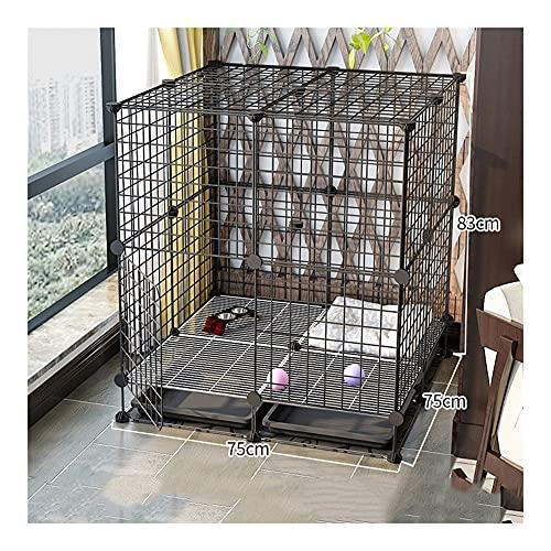 jaula perro Cause for perros de mascota plegable Media interior con inodoro...