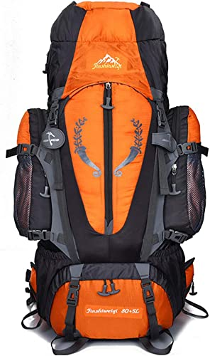 LXYIUN 80Lsac à Dos De Voyage,étanche La Montée Détachable Apporter Un Soutien équitation Grande Capacité Backpack,Orange