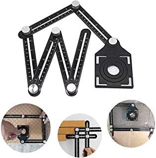 Multi-vinkel mätlinjal universell angularizer mall verktyg aluminiumlegering vinkelriktare layout verktyg