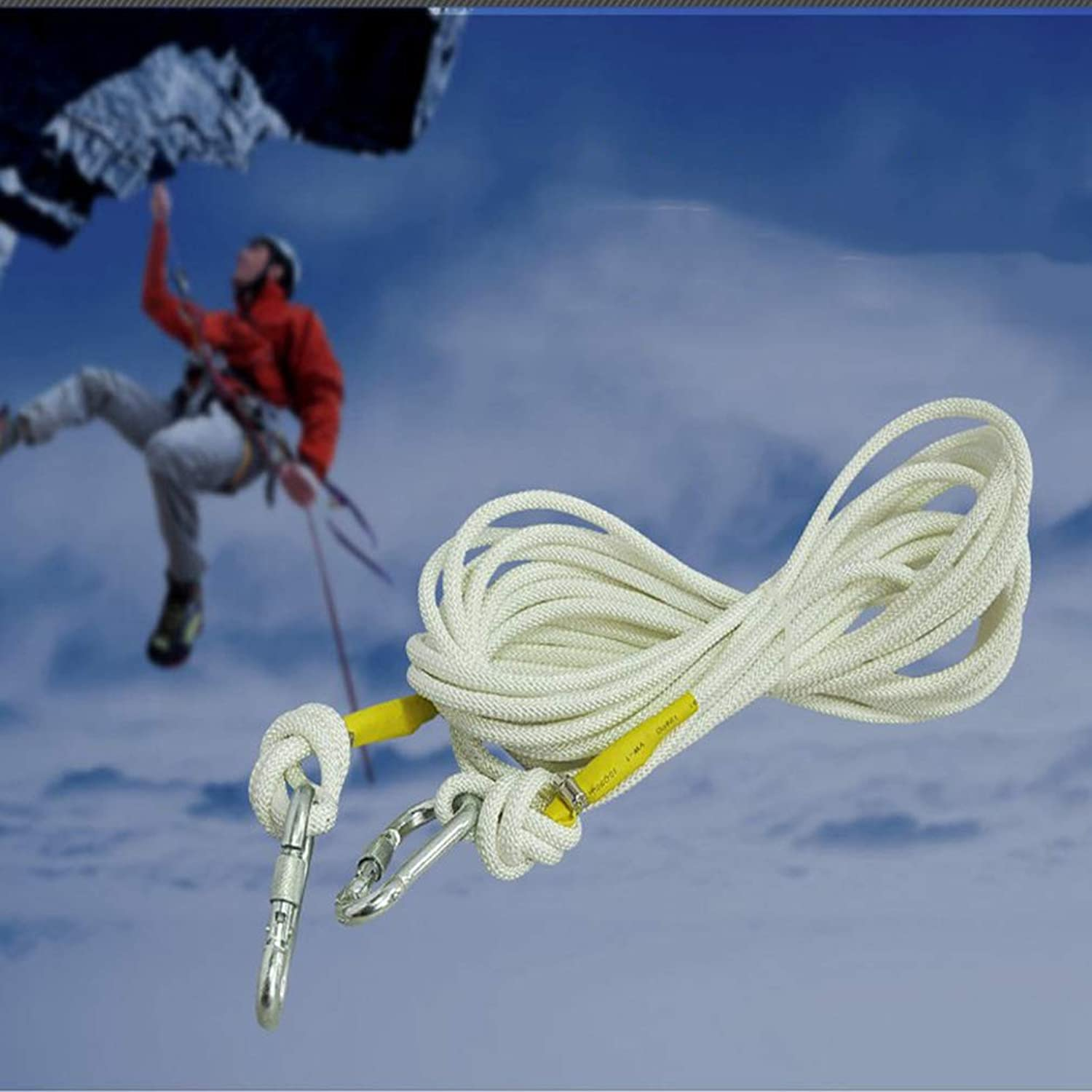 Climbing Rope 10m 15m 20m 30m 50m, Nylon 9mm Steel Wire Rope Mountain Climbing Speed Exploration,30m