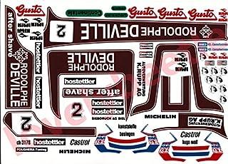 1/8 B2Bレーシングサイドカー 旧バージョン ビニールステッカーセット TB B2B RACING SIDECAR TAMIYA ミシュラン MICHELIN カストロール CASTROL キィウイ KIWI チャンピオンスパークプラグ C...