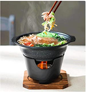 Mini Shabu Shabu Stew Hot Pot & Lid With Brazier For 1-2 People Home Camping