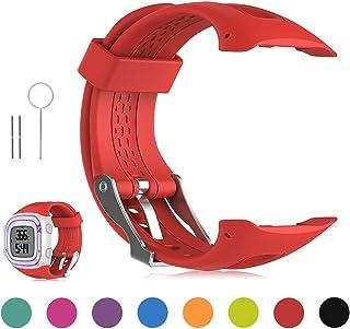Garmin Forerunner 10 / Forerunner 15 GPS Running Watch Replacement Band - Feskio Soft Silicone Replacement Wrist Watch Strap for Garmin Forerunner 10/Forerunner 15 GPS Running Watch (Small/Large Size)