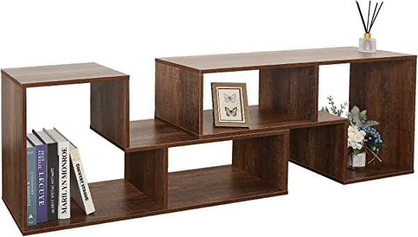 DEVAISE Versatile TV Stand Entertainment Center Console Bookshelf For Living Rooms