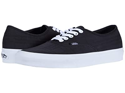 Vans Authentictm ((Tonal Plaid) Black/True White) Skate Shoes