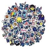 SET PRODUCTS  Top Pegatinas ! Juego de 49 Pegatinas de Lilo e Stitch Vinilos - No Vulgares - Lilo & Stitch, Estilo, Bomba - Personalización Portátil, Scrapbooking, DIY