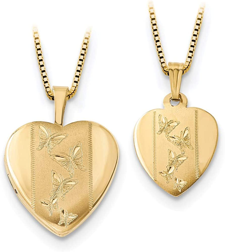 Charm overseas Pendant 14K Two-Tone Gold Necklace Sets 16Mm With Polished Cheap mail order sales
