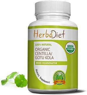 Organic Centella Asiatica Gotu Kola Brahmi Powder | Certified Cognitive Supplement for Men & Women | Memory Brain Focus Su...
