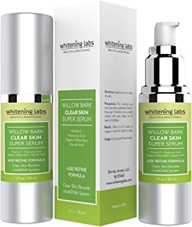 Acne Scar Clear Skin Serum. Spot Removal Formula for Acne Prone Skin with Vitamin E, Hyaluronic Acid, Willow Bark, Licorice for Blemish Free, Soft, Radiant, Youthful Skin 1 oz