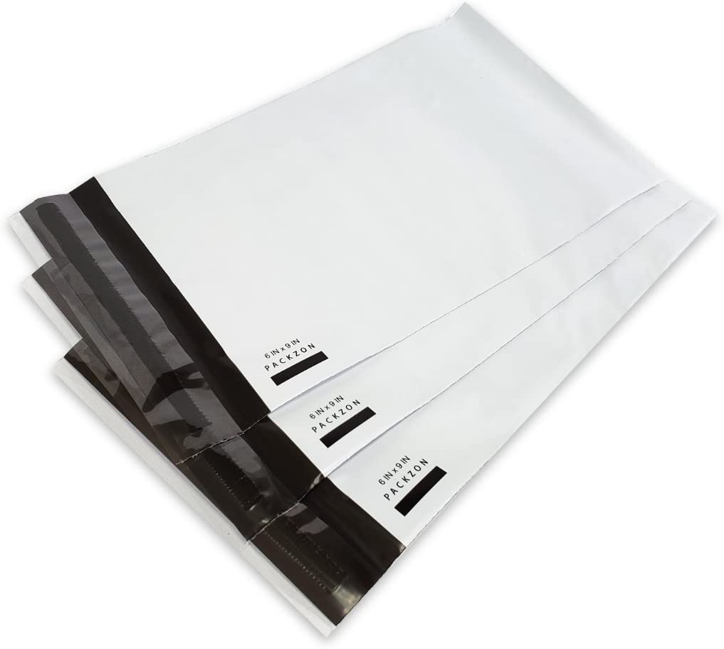 SJPACK 100pcs 14.5x19 Poly Mailers 2.5 Mil Envelopes Shipping Bags With Self Sealing Strip White Poly Mailers
