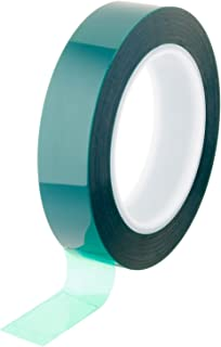 Bertech Green Masking Tape, 1 Wide x 72 Yards Long, 1 Mil Thick on a 3 Core