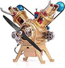 High-end V-2 Engine Model, Propeller Models Polished by Professional Abrasives, Difficult Simulation, for Children to Develop Brain Intelligence