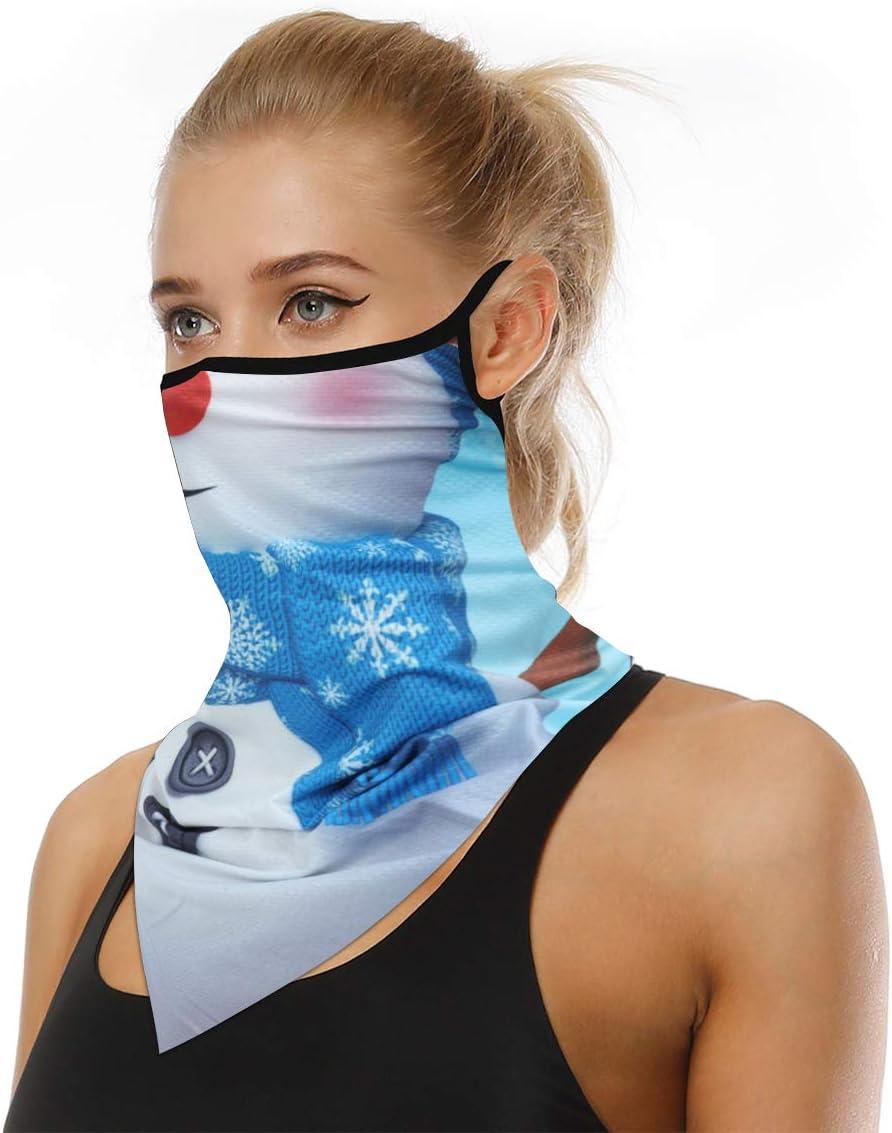 Triangle Face Scarf Ear Hangers Bandanas Balaclava Seamless Outdoor Sun Protection For Womens Mens Ear Loops Neck Gaiter