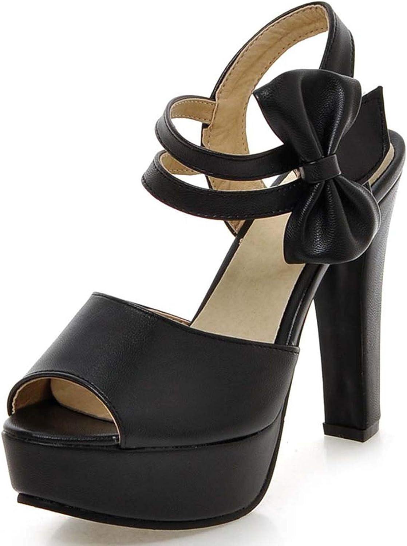 RuoYuan sandals Women Open Toe Thick Platform Chunky Block High Heels Ladies shoes