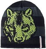 STÖHR REFLEX Kinder Strickmütze reflektierend modisches witziges Design FARBWAHL, Farbe:schwarz, Grösse:54/56