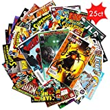 Comic Book Collection Gift Pack | Lot of 25 Unique Marvel & DC Comic Books Only | Good Condition or Better | Perfect Marvel Comics Gift for Men | Marvel & DC Comics Collection