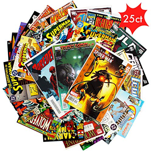 Comic Book Collection Gift Pack | Lot of 25 Unique Marvel &...