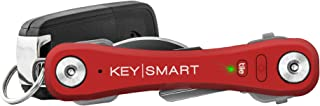 KeySmart Pro - Compact Key Holder w LED Light & Tile Smart Technology, Track your Lost Keys & Phone w Bluetooth (up to 10 Keys)