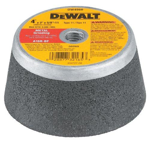 DEWALT Grinding Wheel, Steel Backed Cup, 4-Inch x 2-Inch x 5/8-Inch-11-Inch (DW4960)