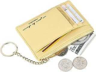 Women's 8 Cards Slim Minimalist Card Holder Case Zip Coin Changes Front Pocket Wallet