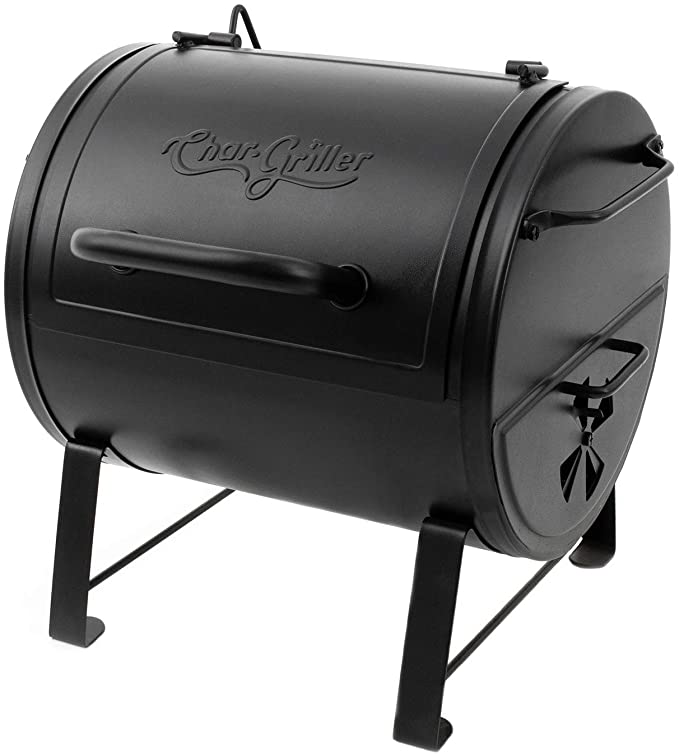Char-Griller E82424 Side Fire Box Charcoal Grill - Travel-friendly