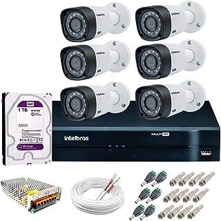 Kit de Câmeras de Segurança-dvr Intelbras 8 Ch G2 Tríbrido Hdcvi+6 Câmeras Vhd 1010b Hd 720p+hd Wd Purple+acessórios