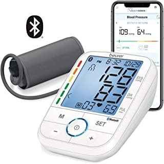 Beurer Bluetooth Upper Arm Blood Pressure Monitor, Blood Pressure Monitor Cuff with App, Illuminated Display, Multi-Users, BM67