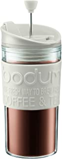 Bodum Double Wall Travel Press with Extra Lid, White, 350ml