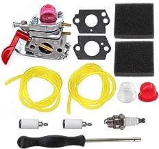 AISEN Carburetor for C1U-W19 530071811 Poulan P133 P4500 P4500E PP025 PP125 PP125E PP258TP PP258 PP258TPC PP25EPP26E PP325 SM705 SM706 250CXL 250CXL Screwdriver Adjustment Tool Kit Air Filter