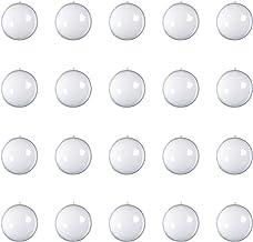 20 Pcs Clear Transparent Ball Christmas Tree Ball Ornaments DIY Fillable Ball Plastic Baubles