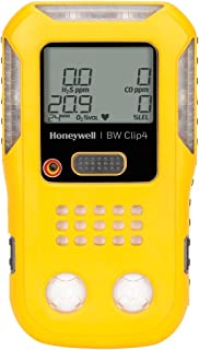 BW Technologies BWC4-Y-N Clip4, 4-gas (Combustible, O2, LEL, H2S, CO) - 2-Year Detector, Mixture of Lexan, TPE and Plastic, Yellow, 4.7