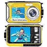 Macchina Fotografica Subacquea Fotocamera Subacquea Digitale Full HD 2.7K 48MP Selfie Dopp...