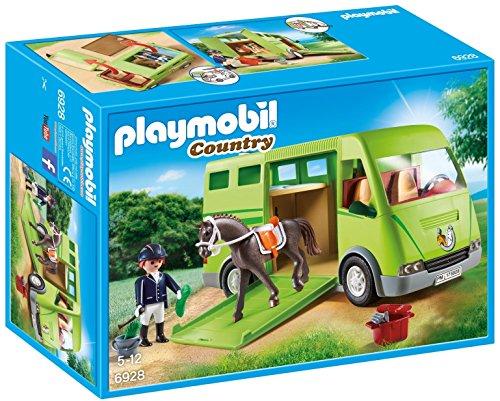Playmobil- Cavalier avec Van et Cheval, 6928
