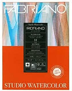 Fabriano Studio Watercolor Paper Pad 9X12 HP 300GSM 140 LB
