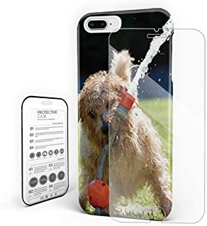 YEHO Art Gallery Christmas Phone Case Protective Design Hard Back Case,The Patterdale Terrier 3D Dog Animal Pattern,Phone Covers with Screen Protector for Girls Boys,iPhone X