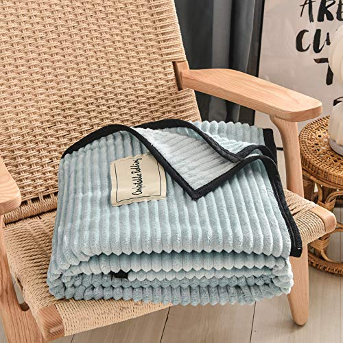 Strickanleitung Ehemann Decke Weich Und Warm Schlafen Klimaanlage Decke Schlummer Nettes Geschenk,Blue-200x230cm