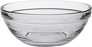 Duralex - Lys Stackable Clear Glass Bowl, 1/2 Quart 5 1/2 Inches Set of 6