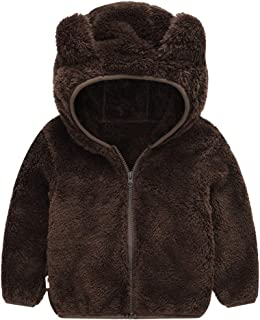 VEKDONE Stretch Hoodie Jacket for Baby Infant Toddler Kid Ear Heart Warm Clothes