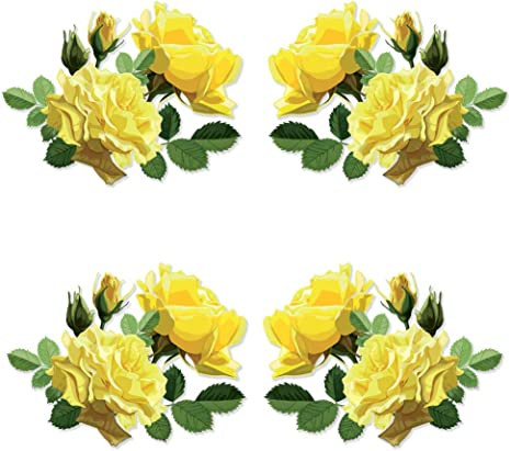 Amazon Com Yellow Roses Kitchen Stand Mixer Appliance Decal Front Back Vinyl Decal Set Full Color Kitchen Dining
