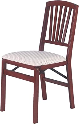 Amazon Com Stakmore Lattice Back Folding Chair Finish