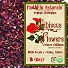 Foothills Naturals Hibiscus Flowers Organic - 1 Pound / 454g Whole