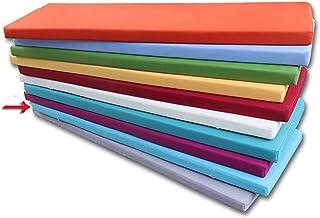 bandezid Espesar Esponja Acolchada Cojín De Banco Cojín para Banco Exterior Exterior Cojín Silla-Azul 3 60×30×5cm(23×12×2in)