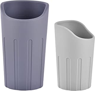 GuduGudu (5oz&8oz 2 Pack Silicone ) Nosey cup,cut out cup,Elderly and Children,cup for dysphagia,Wear a cervical traction,No need to raise your head to drink water