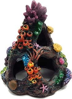 Tutuziyyy Aquarium Volcanic Coral Stone Aquarium Landscape Decoration Painted Coral Reef Ornament