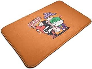 ASHOK ETHAN Large Soft and Absorbent Rugs,Bathroom Rug Mat (30 X 18 Inch) Chibi Harley Quinn Chibi Joker Hearts Machine Wash/Dry,Floor Mats for Tub, Shower and Bath Room