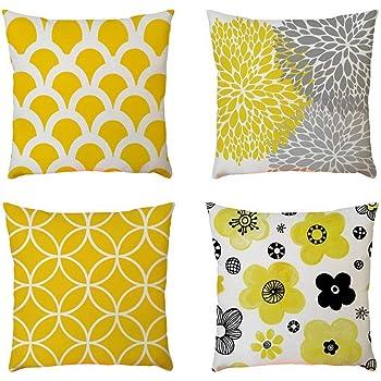Modernos Geométricas Fundas Cojines 45X45, Funda de almohada Cuadrada Funda de cojín de lino Decorativa Sofa Jardin Cama (4PC/SET): Amazon.es: Ropa y accesorios