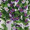 Piante Artificiale Vite Di Fiore Margherita Glicine Appeso Decorazioni Giardino Viola #1