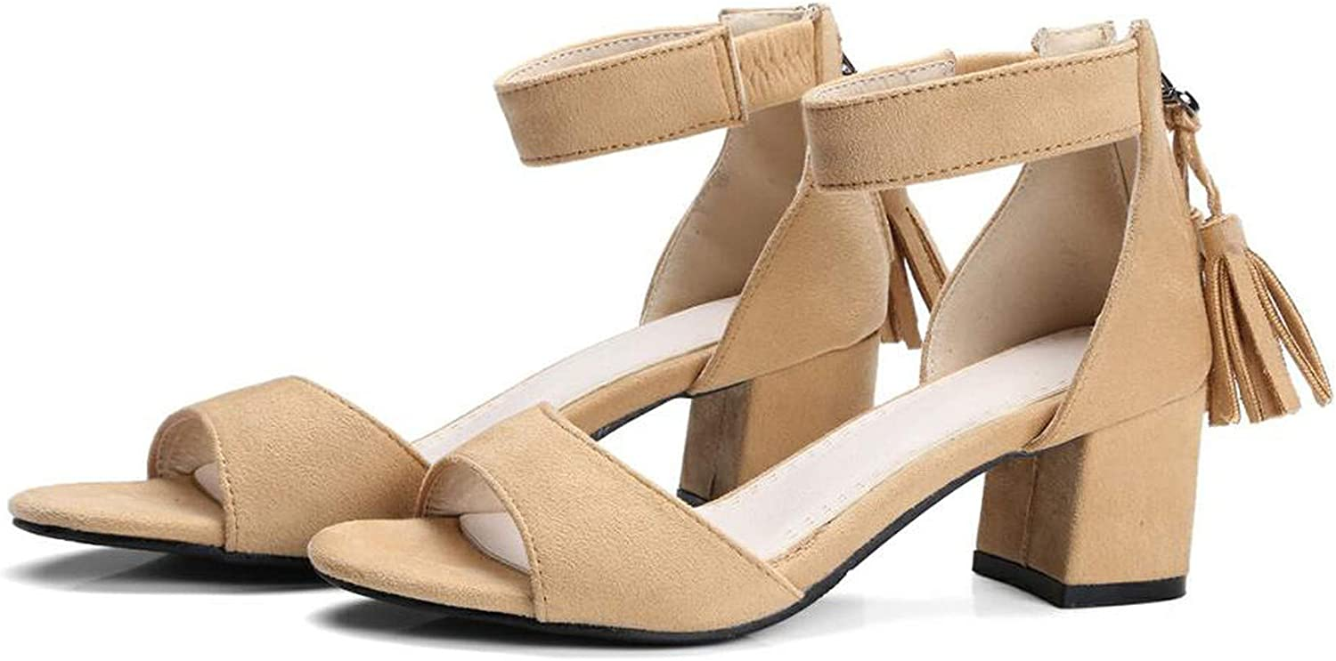 HANBINGPO Women Sandals Summer Back Heel Open Toe Gladiator Style Square Heel Ladies Casual Footwear