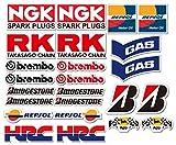 Ti El Es 24PVC Juego Motor Sport Carreras Motocicleta Auto Racing Laminado Pegatinas Moto GP Sponsors